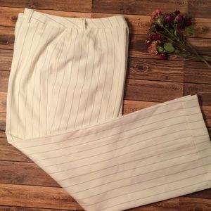 Larry Levine Petite Pinstripe Wide Leg Dress Pants